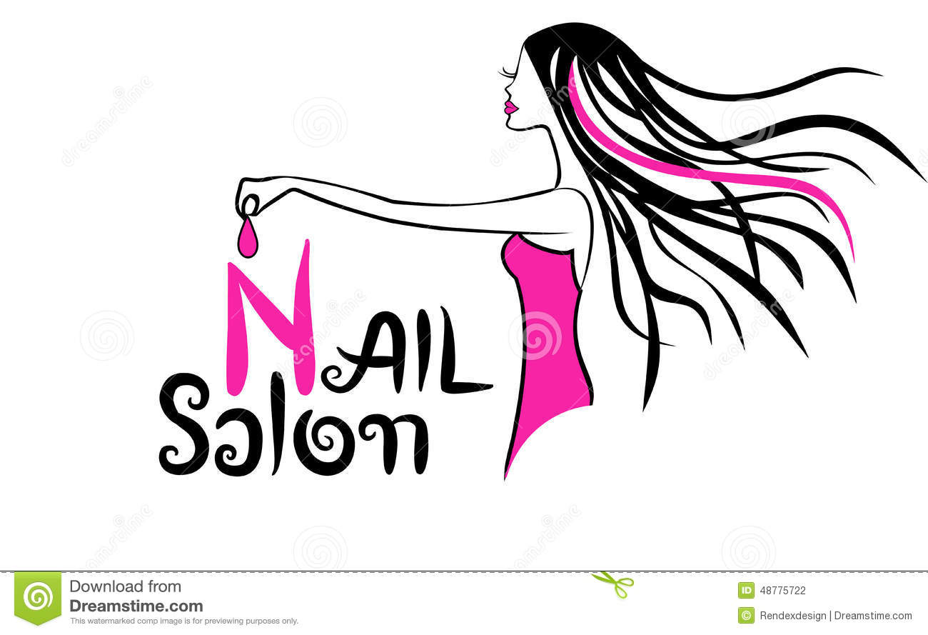 Modern Nail Salon Logo stock vector. Illustration of curve - 48775722