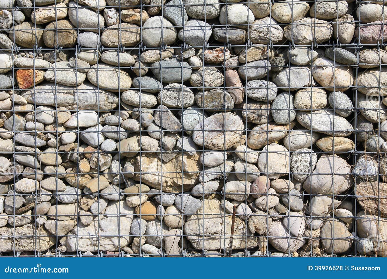Modern Natural Stone : Modern natural filled stone wall stock photo image