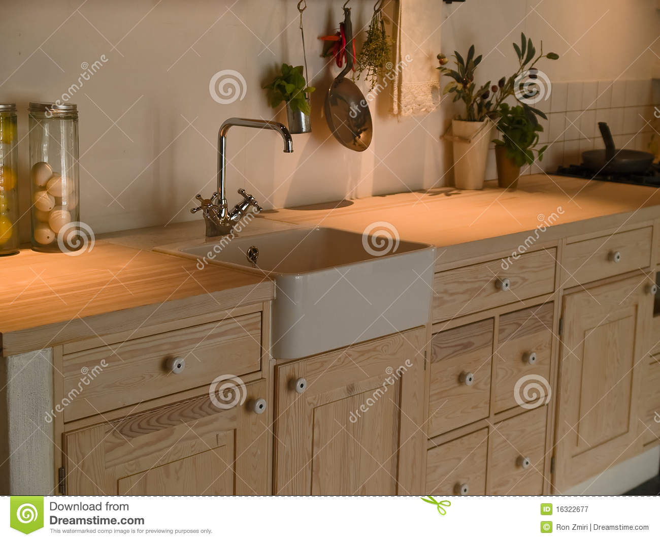 Modern Country Kitchen Modern Country Kitchen Stock Photo Image 40408556