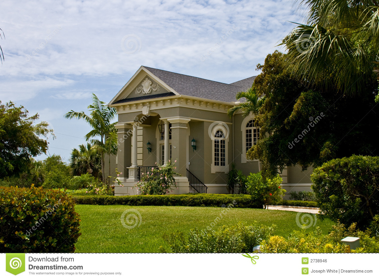 Modern neo classical house royalty free stock image for Classical houses