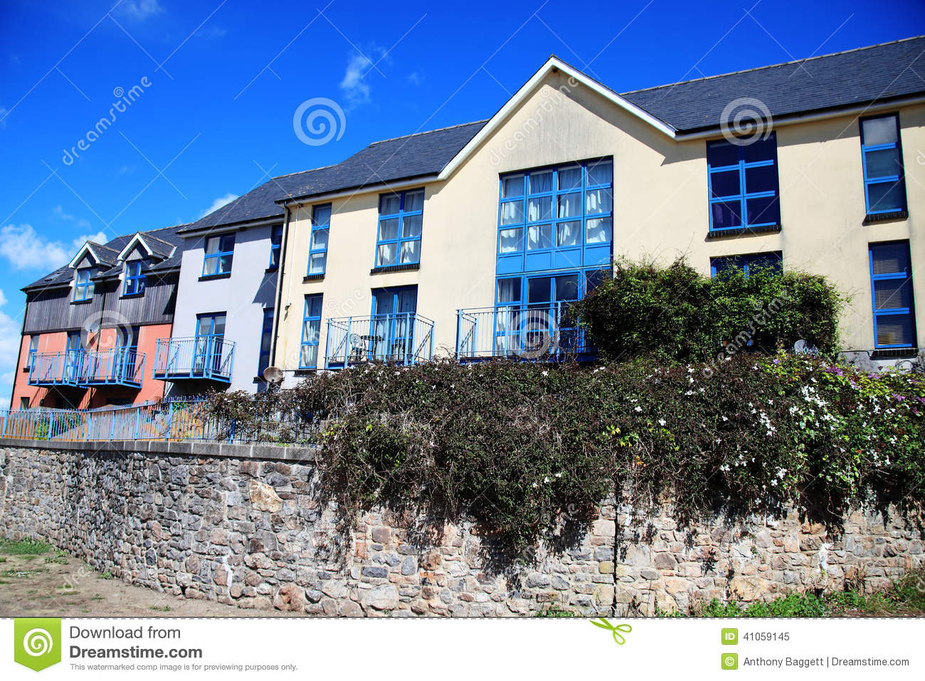 Modern new build terraced houses stock image image 41059145 for New terrace house
