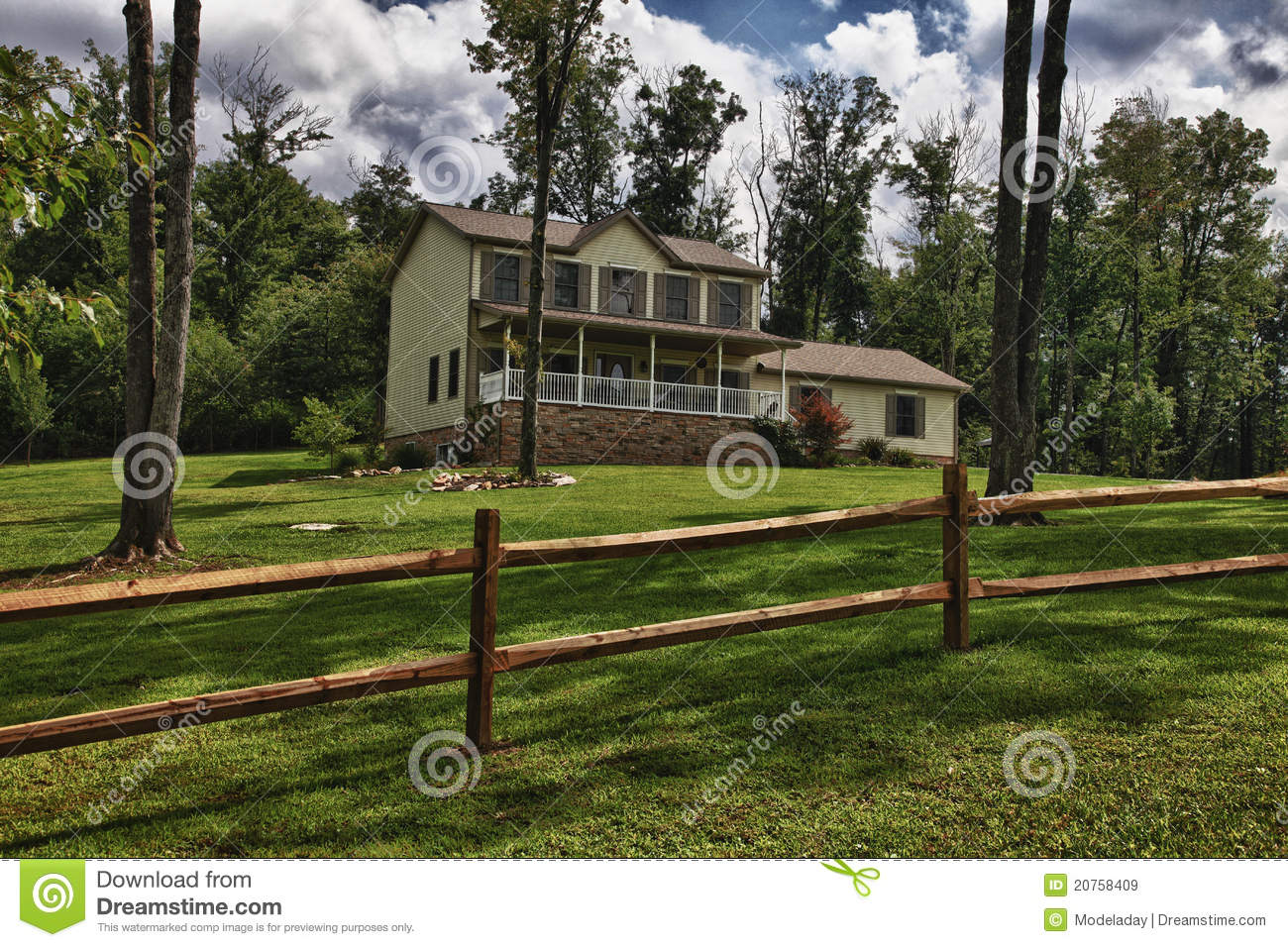 Modern New Farm House Royalty Free Stock Images Image