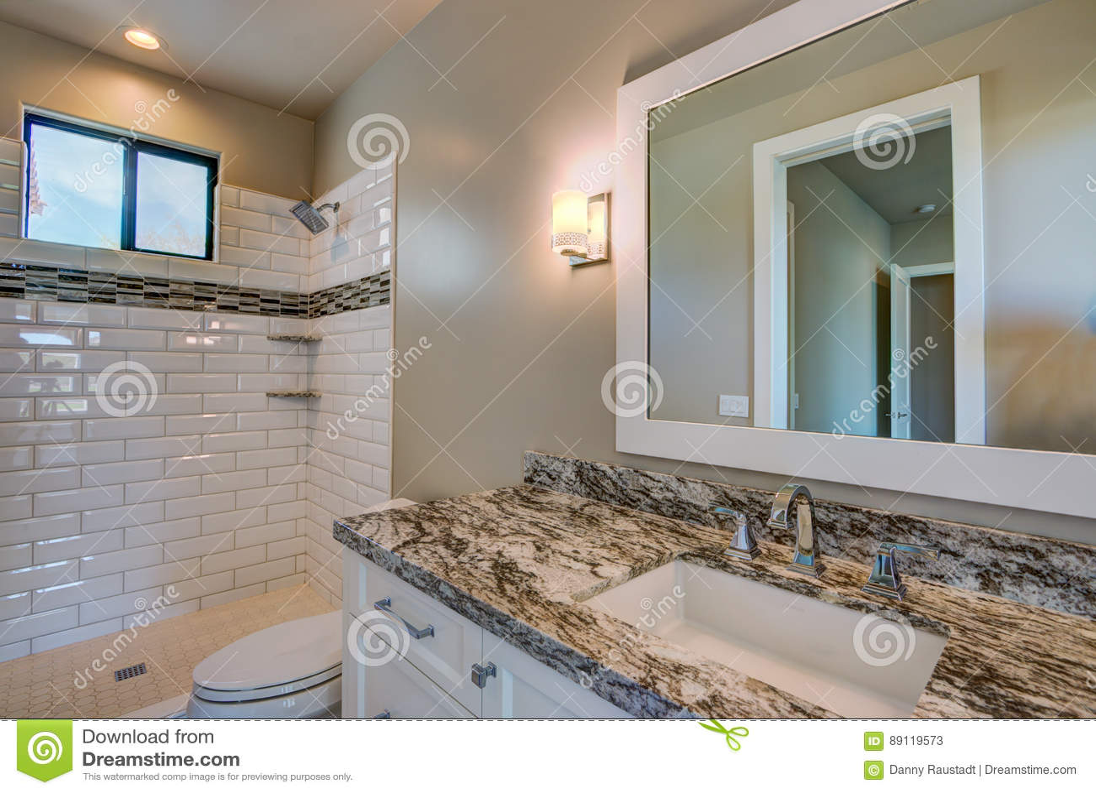Modern New Home Bath