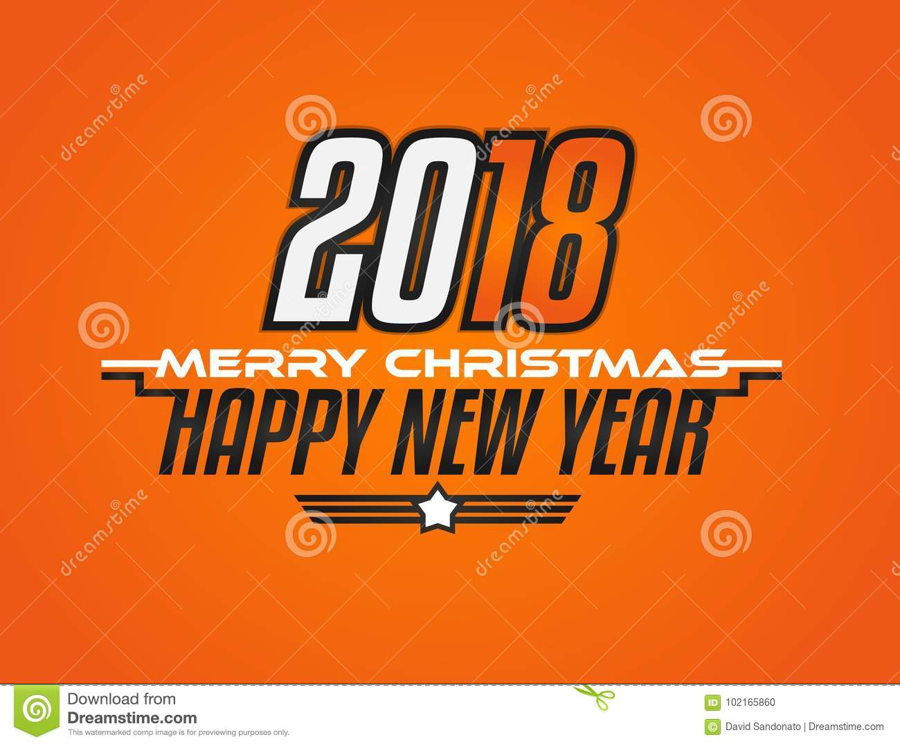 2018 modern new year celebration background for racing greetings