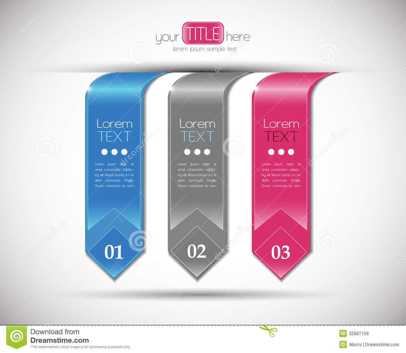 free graphic design templates - modern number banners design template royalty free stock
