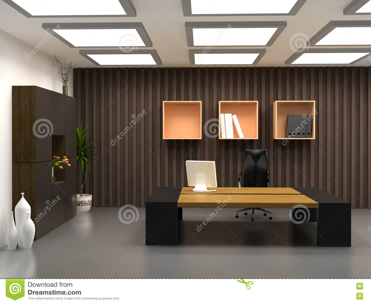 The modern office stock image. image of furniture professional