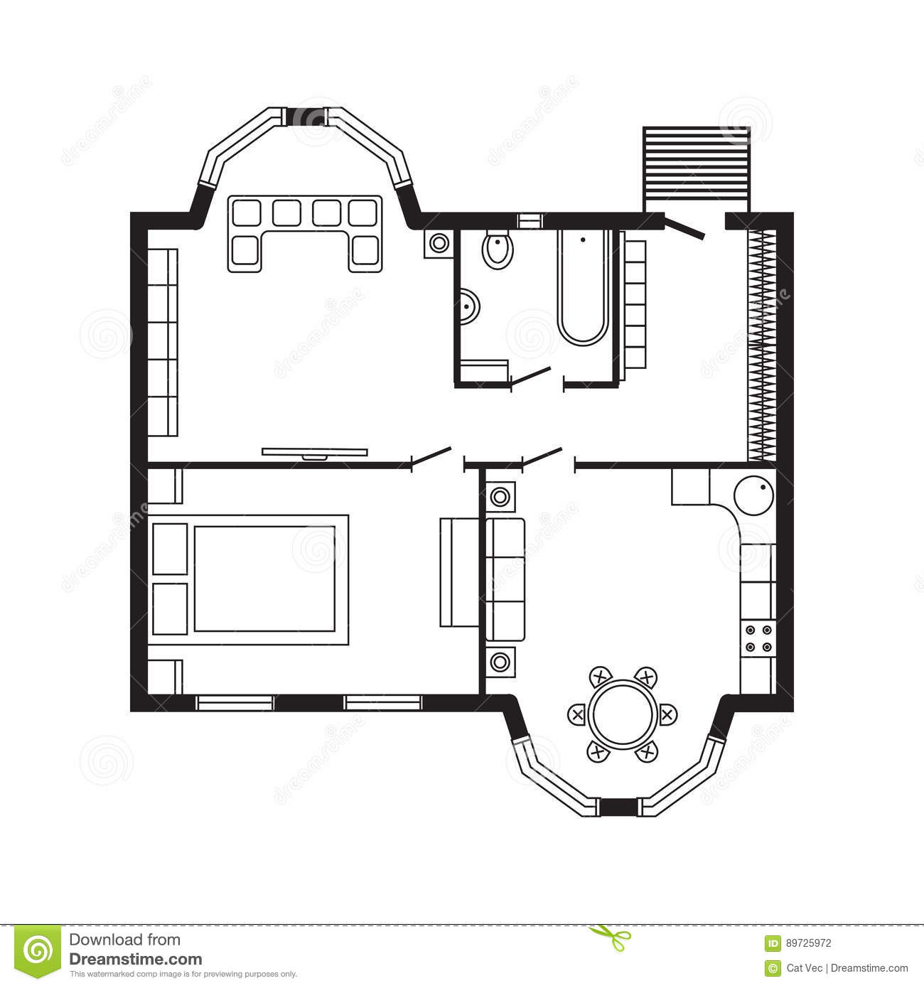 Modern office architectural plan interior furniture and for Home architecture planning engineering consultants