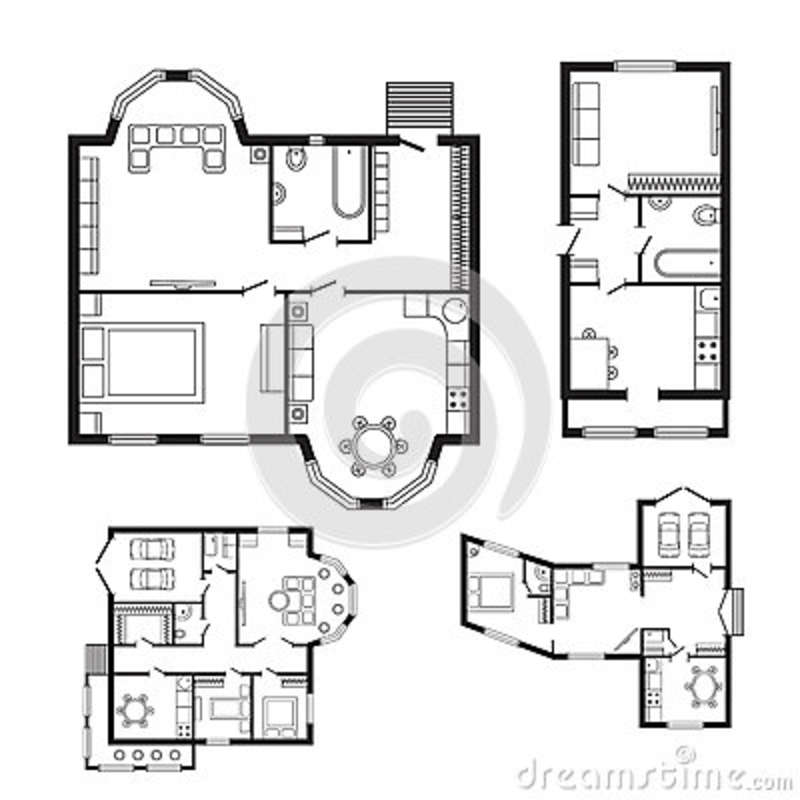 Home Design Engineer: Modern Office Architectural Plan Interior Furniture And