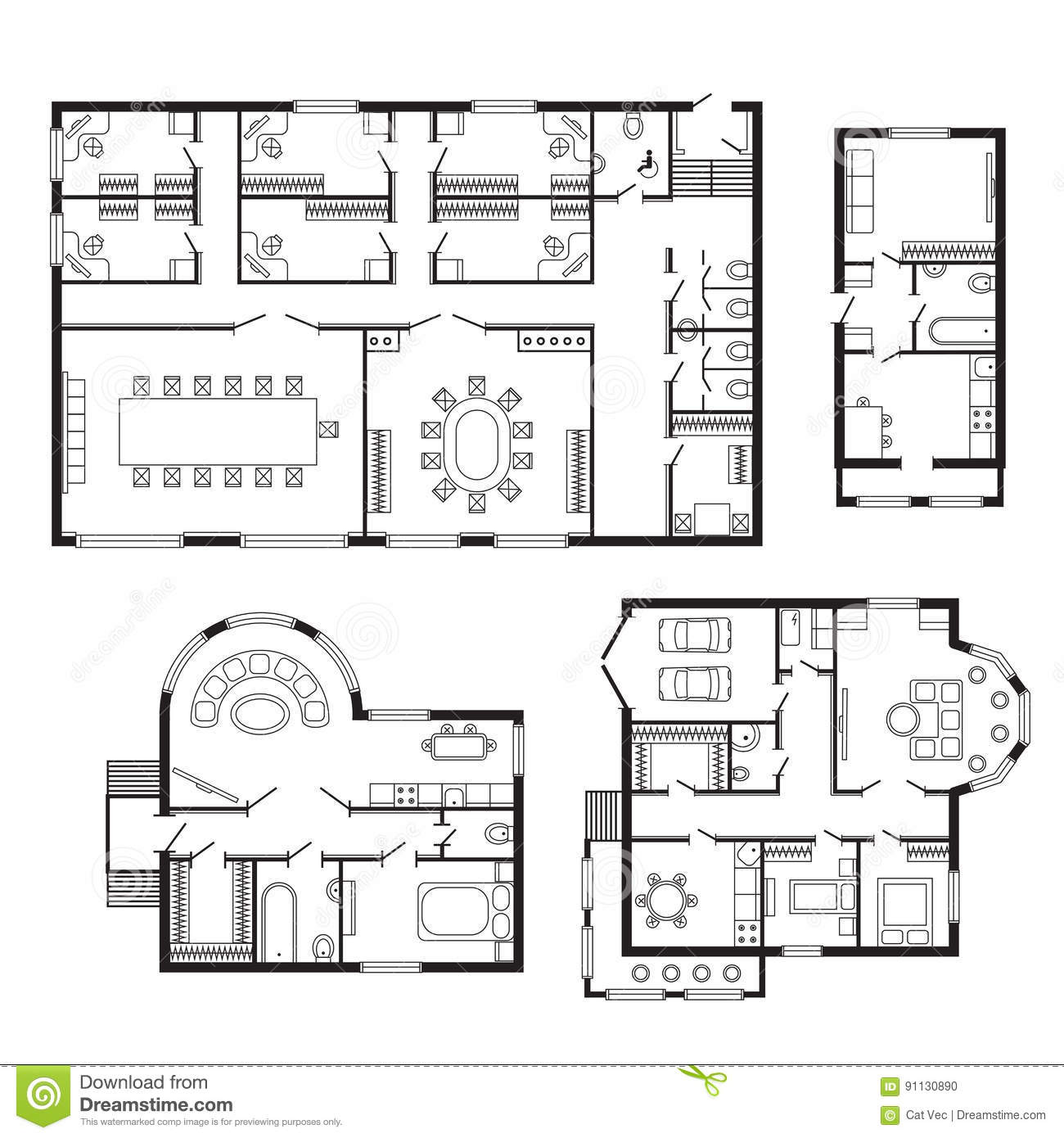 Superbe Modern Office Architectural Plan Interior Furniture And Construction Design  Drawing Project