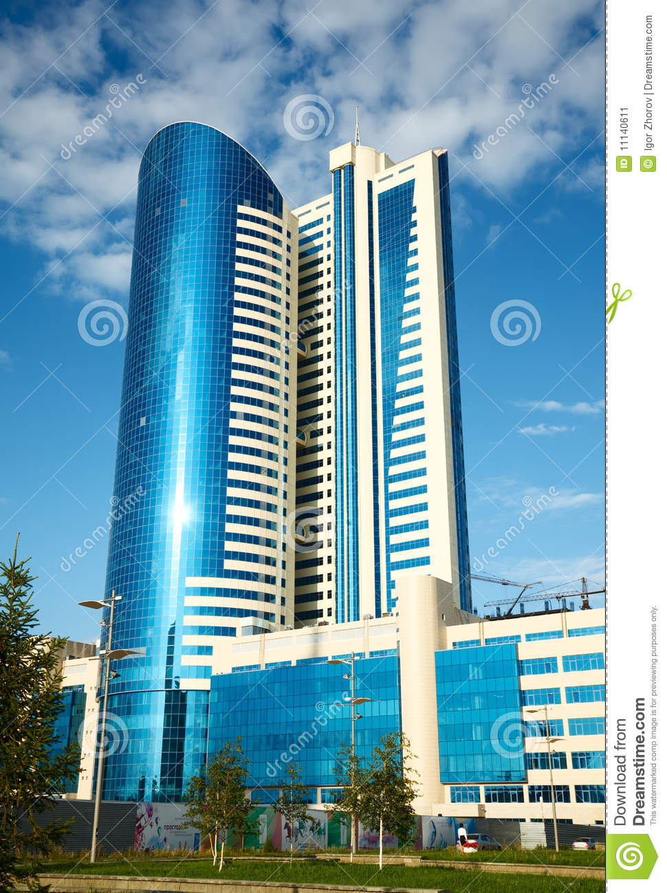 Modern office building stock image image 11140611 for Office design kazakhstan