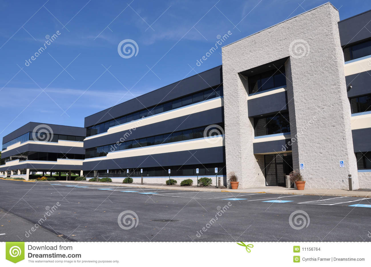 Modern office building stock images image 11156764 for Office building exterior design