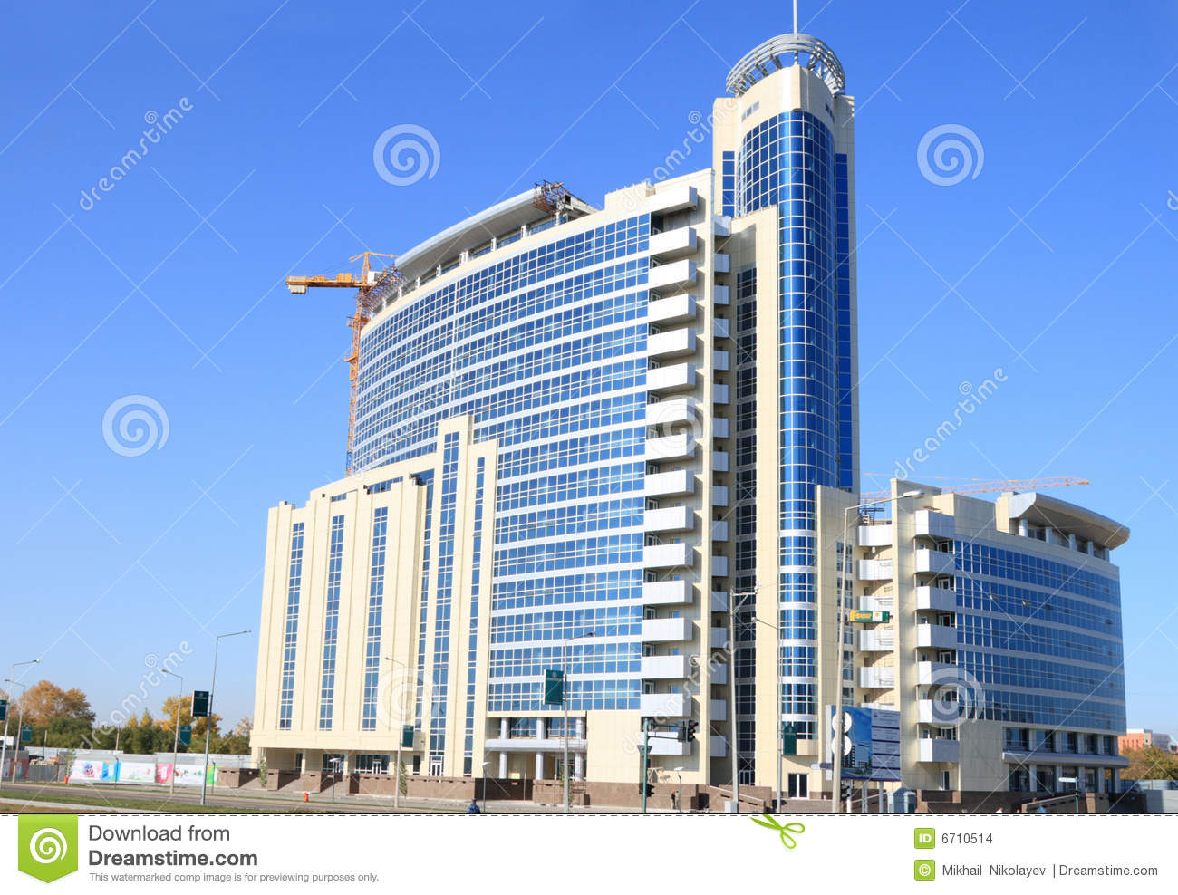 Modern office building stock images image 6710514 for Office design kazakhstan