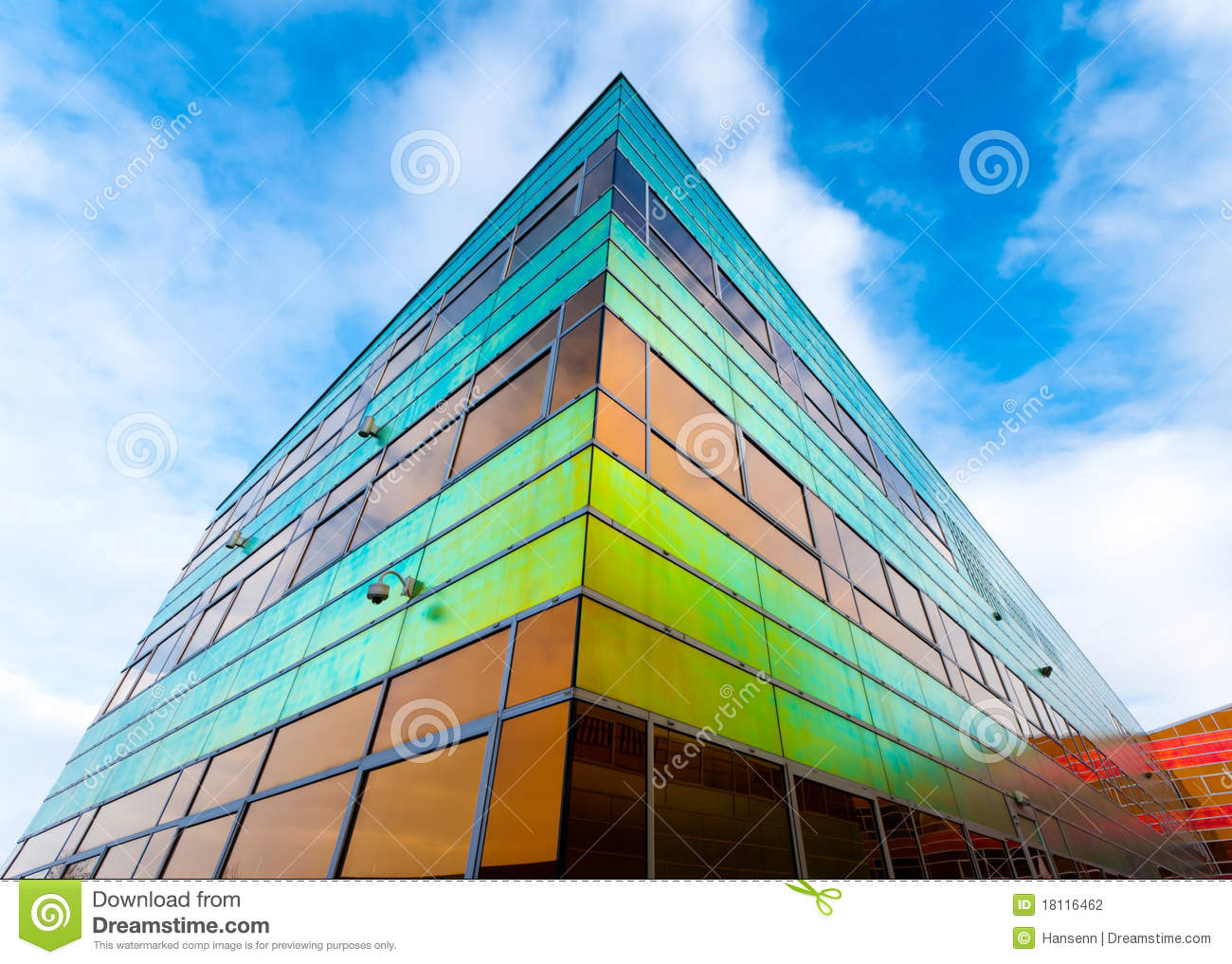 Modern Office Building In Almere Stock Photography - Image ... Colorful Almere