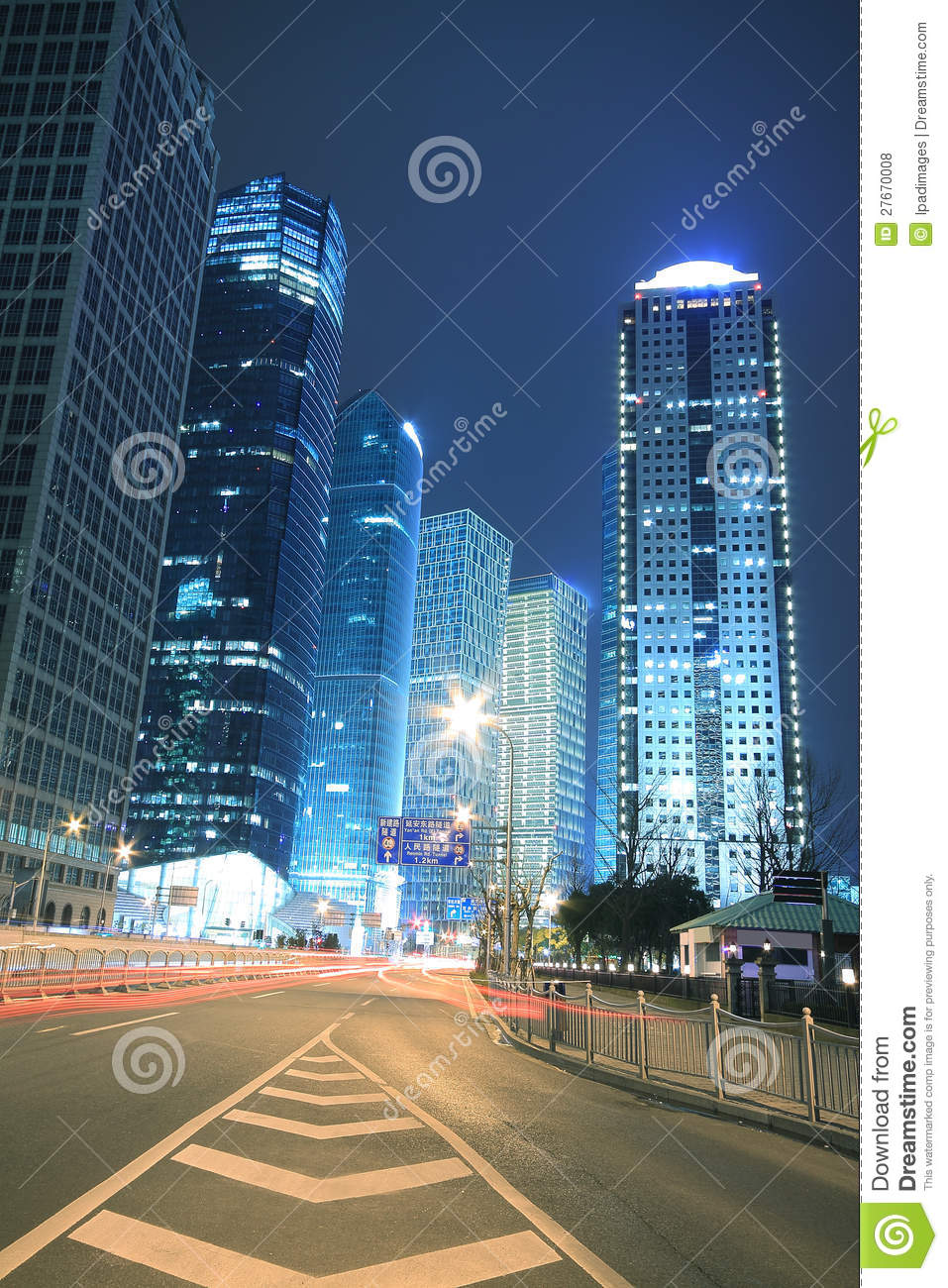 Capital City Auto >> Modern Office Building Background Of Car Night With Light ...