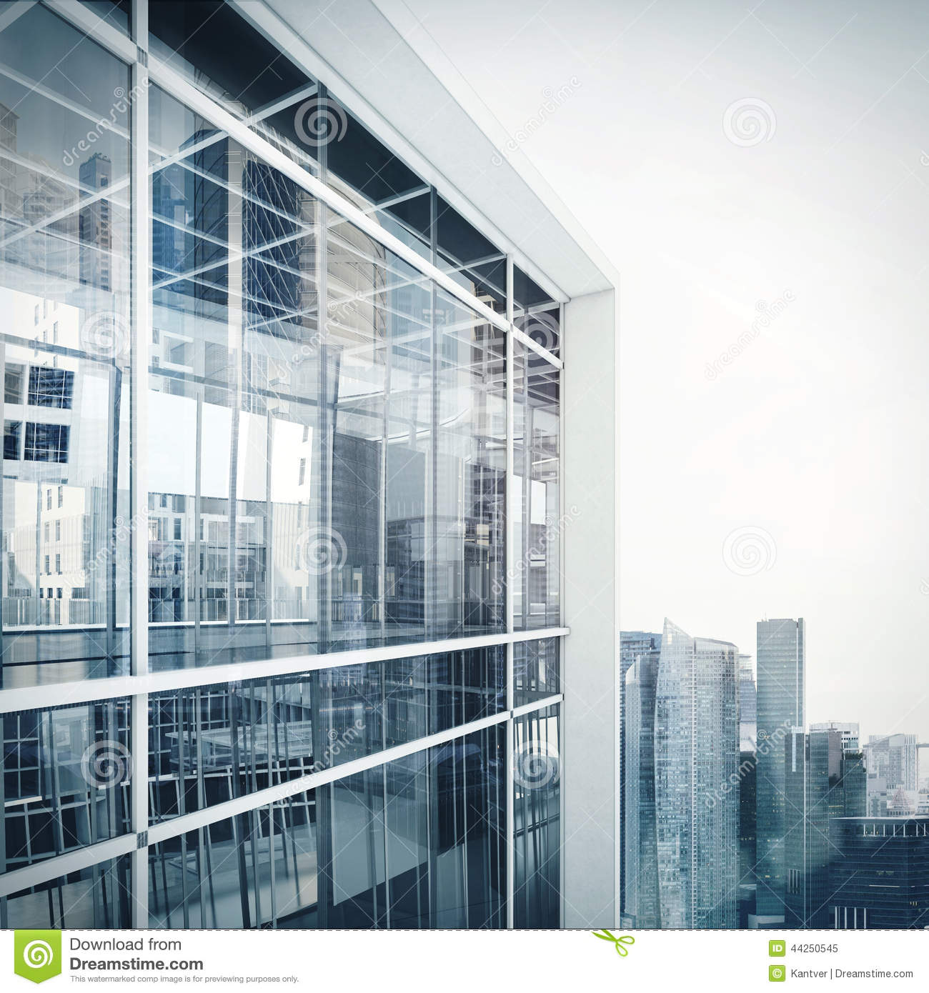 Modern office building exterior stock image image 44250545 for Modern office exterior design