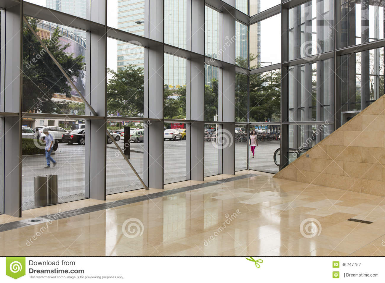 Interior Steel Framed Buildings : Modern commercial office building editorial photography