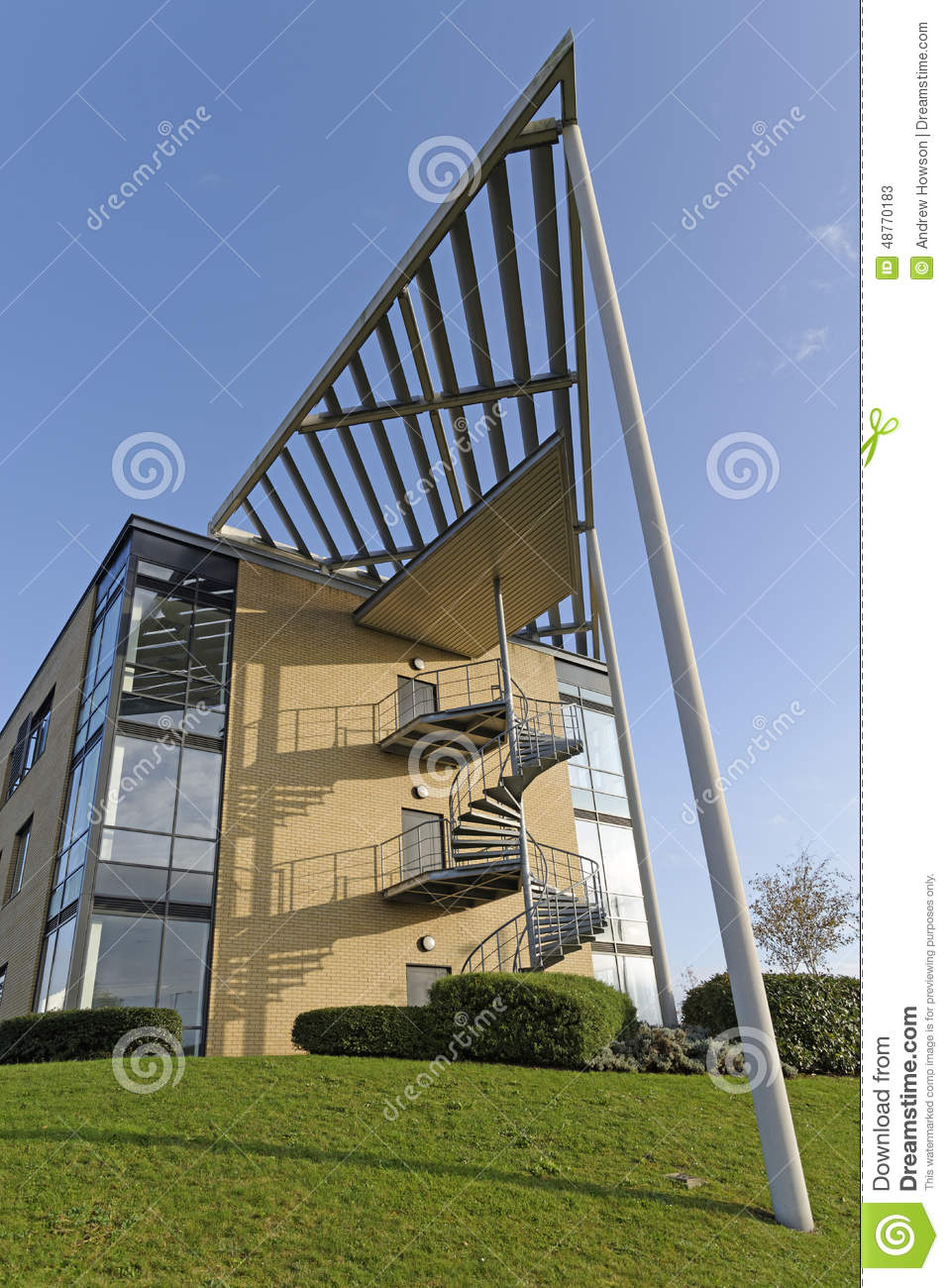 Modern Office Building Stock Image Image Of Early Fa Ade 48770183
