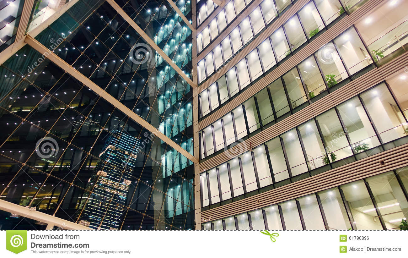 Glass Building Interior : Modern office building interior stock photo image