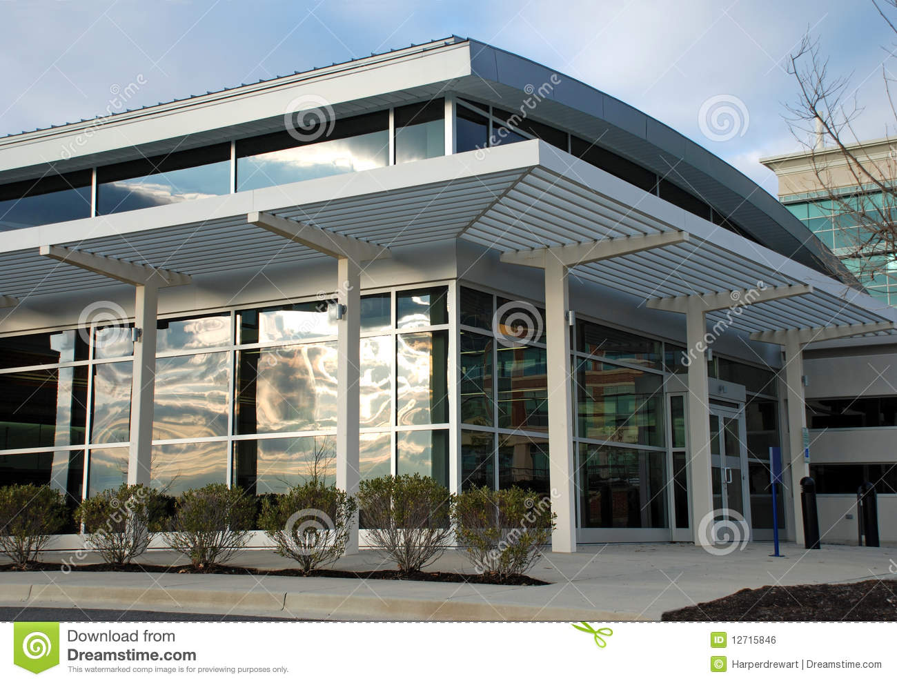 Modern Office Building Storefront Royalty Free Stock Image