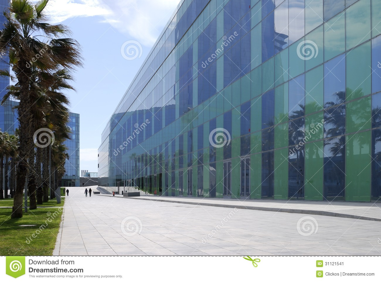 Modern office buildings barcelona stock image image - Steel framing espana ...