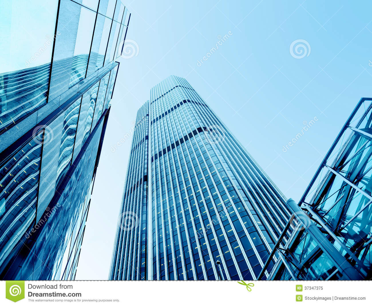 Low Angle Photography Of Building Free Stock Photo: Modern Office Buildings From Low Angle View Royalty Free