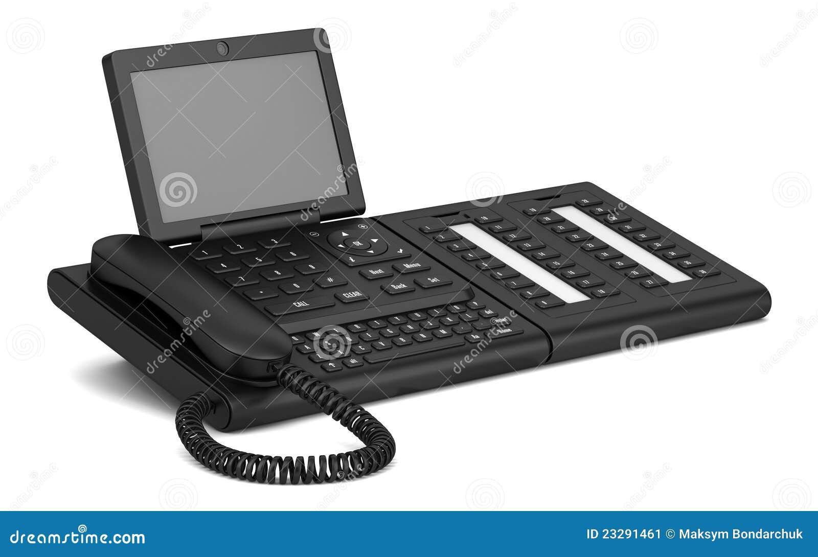 Modern Office Desk Phone Isolated On White Stock ... | 1300 x 903 jpeg 81kB
