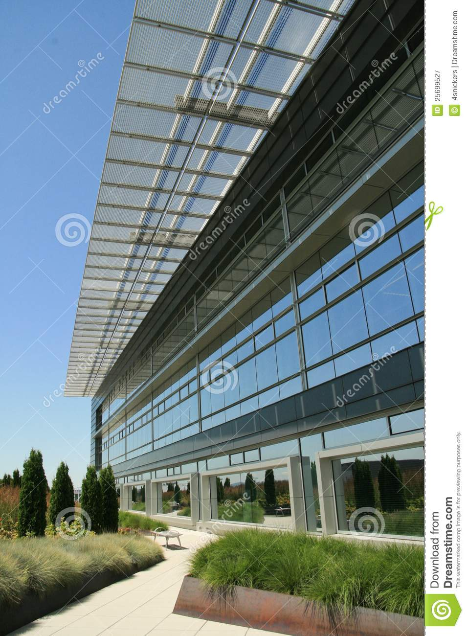 Modern office exterior walkway stock image image 25699527 for Modern office building exterior design