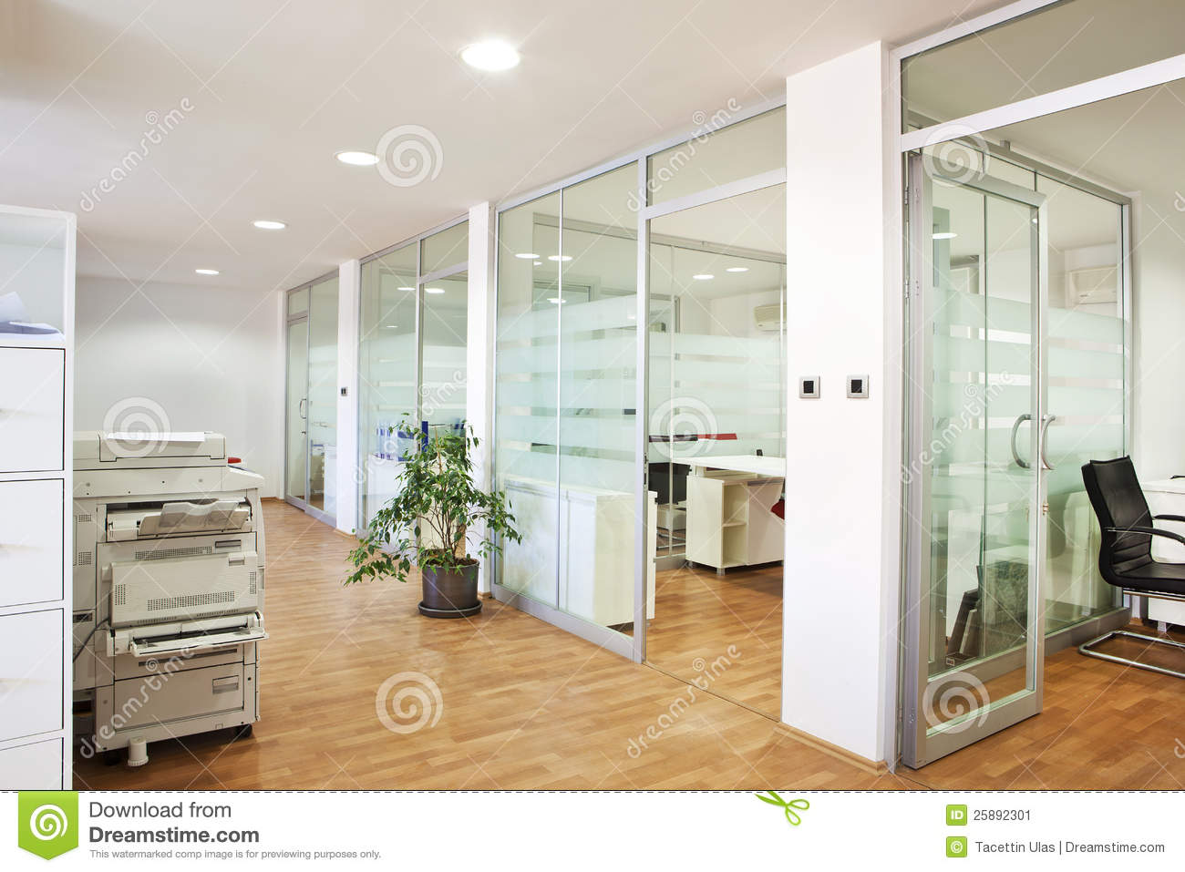 Modern office interior stock image image of computers for Office photos