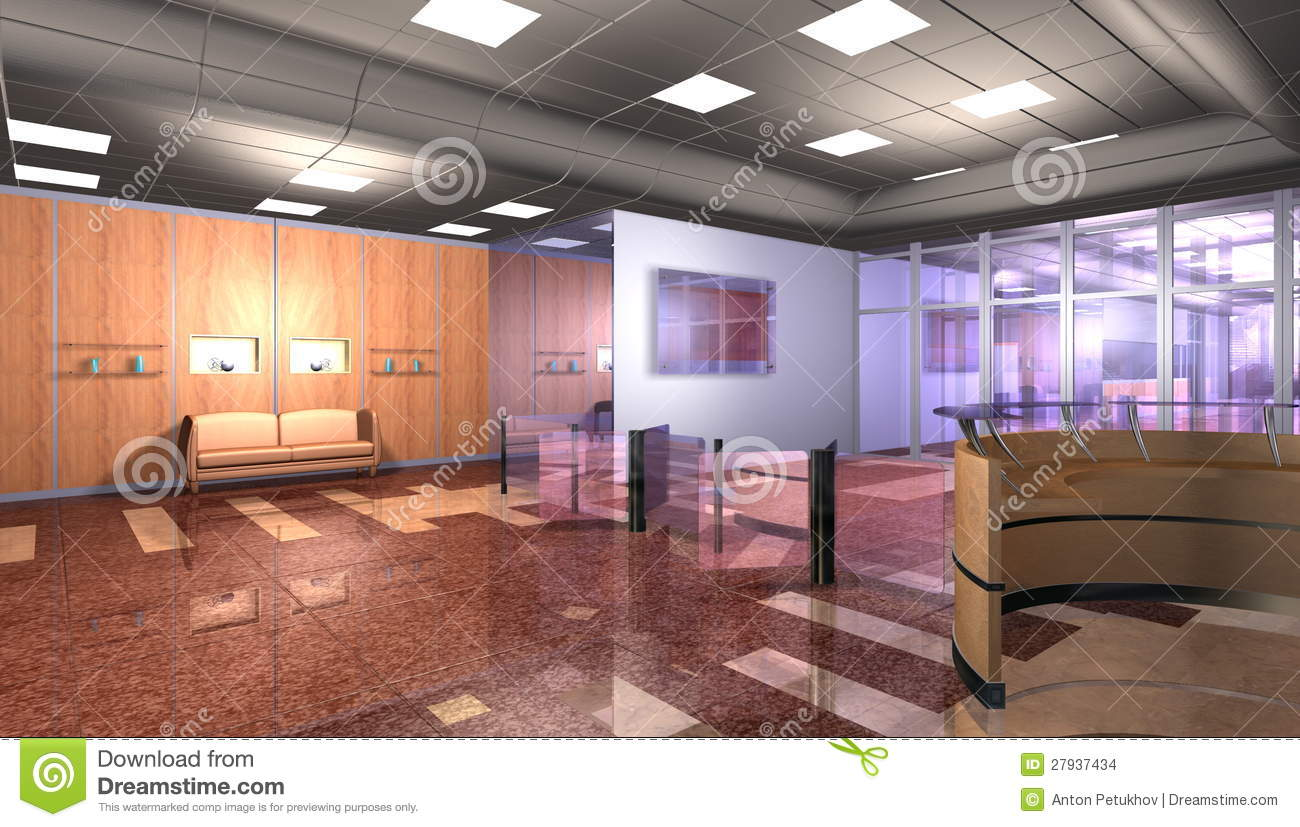Modern office interior stock images image 27937434 for Modern office building interior