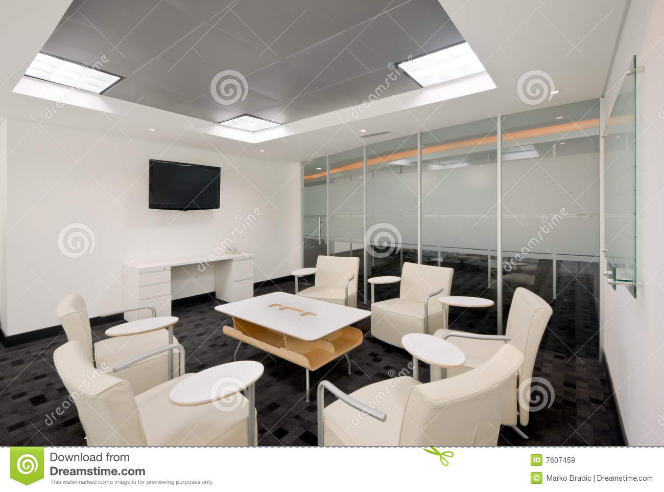 Modern office interior stock image image of workplace for Modern office area