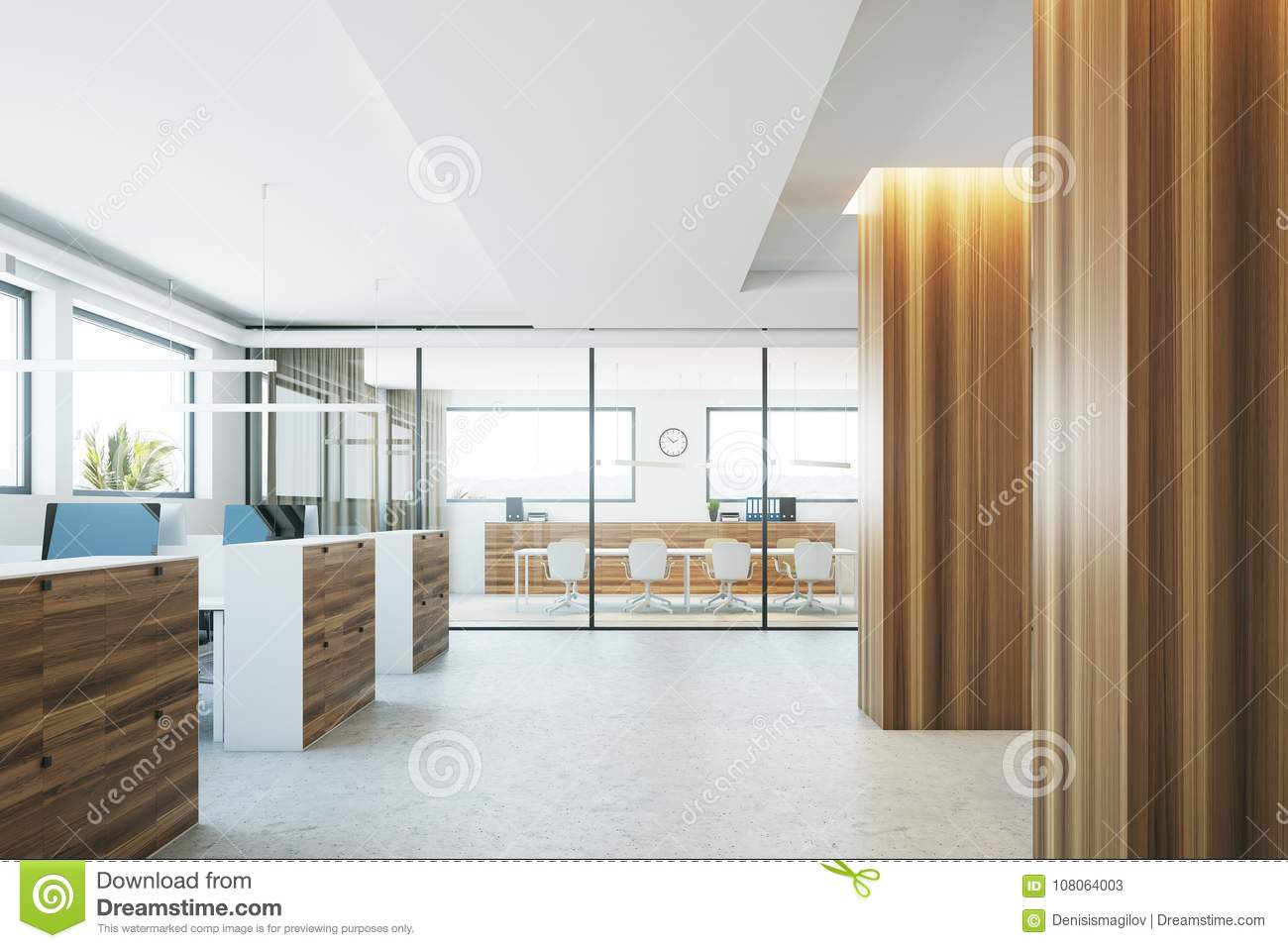 elegant office conference room design wooden wooden columns office interior columns office interior stock illustration of