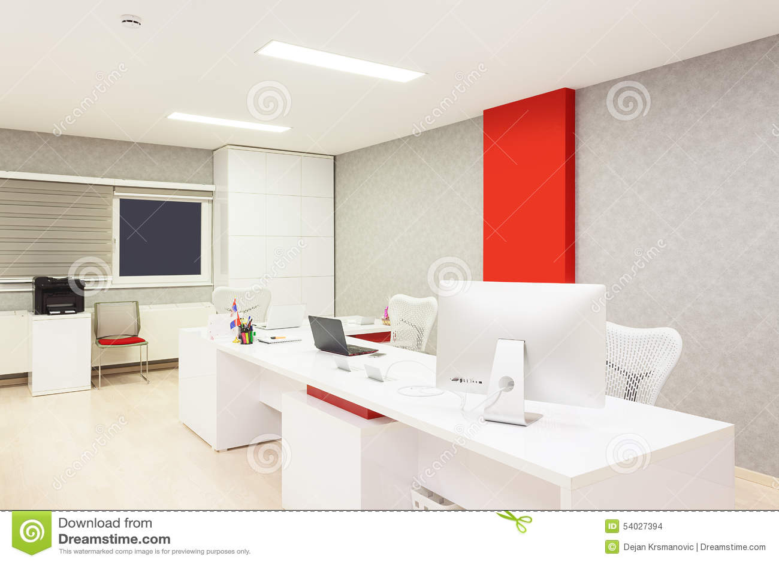 Modern Office Interior Stock Photo Image 54027394