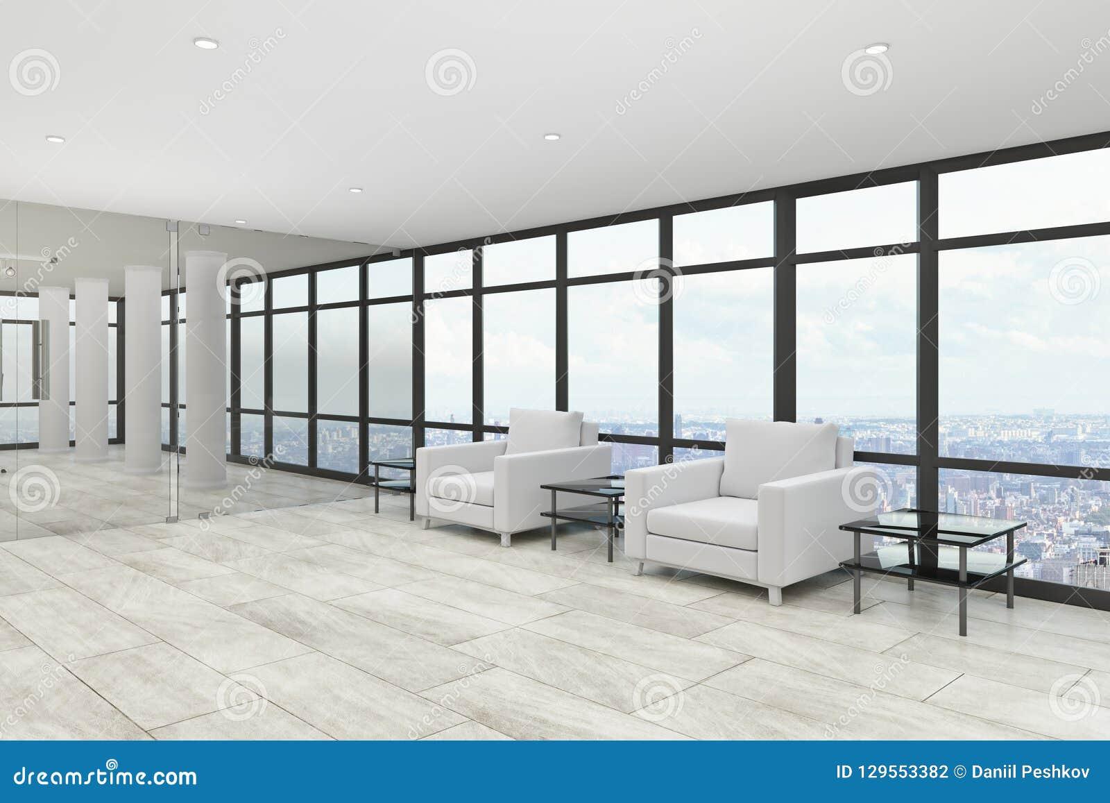 Modern Office Lobby Interior Stock Illustration ...