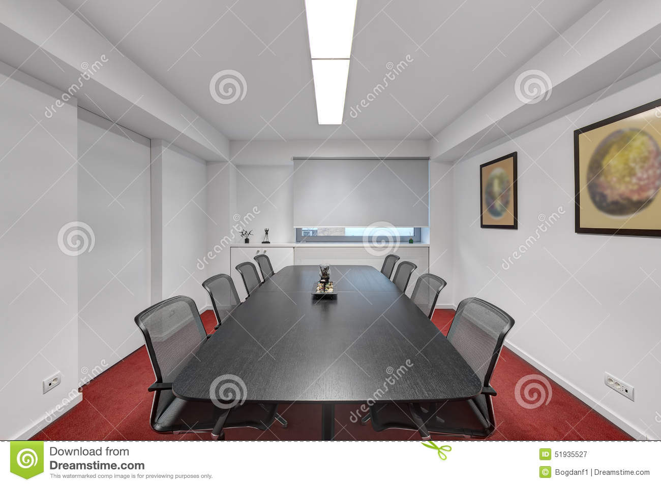 Modern office meeting room stock image image of modern for Modern front room