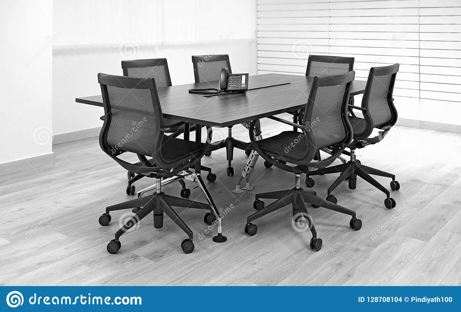 Office Furniture Table And Chairs Stock Photo - Image of ...