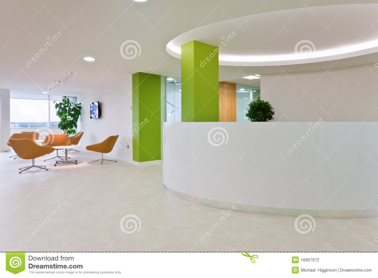 Modern office reception stock photo image of reception for Modern office area