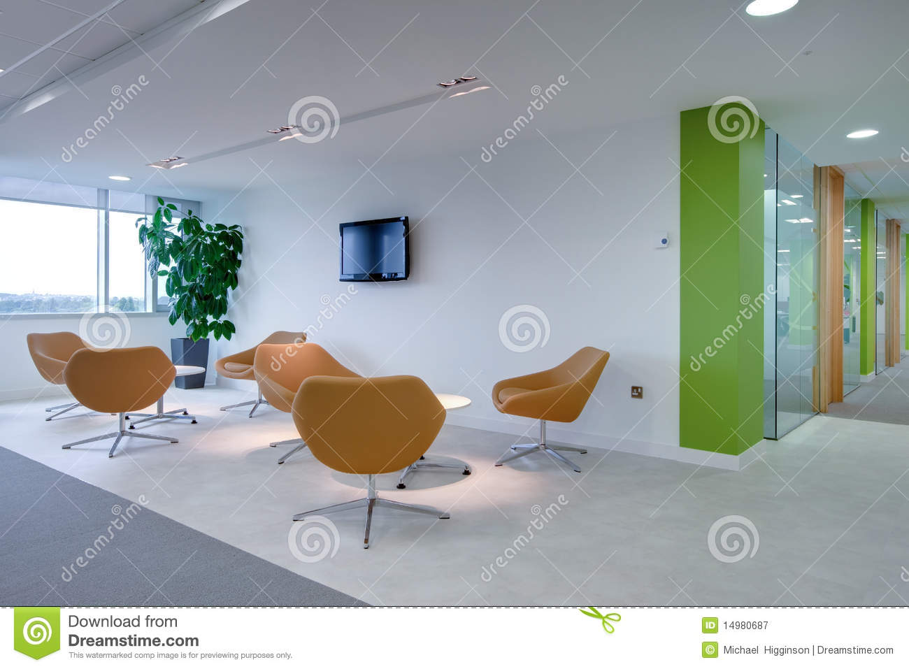 Modern fice Reception Area Royalty Free Stock graphy Image