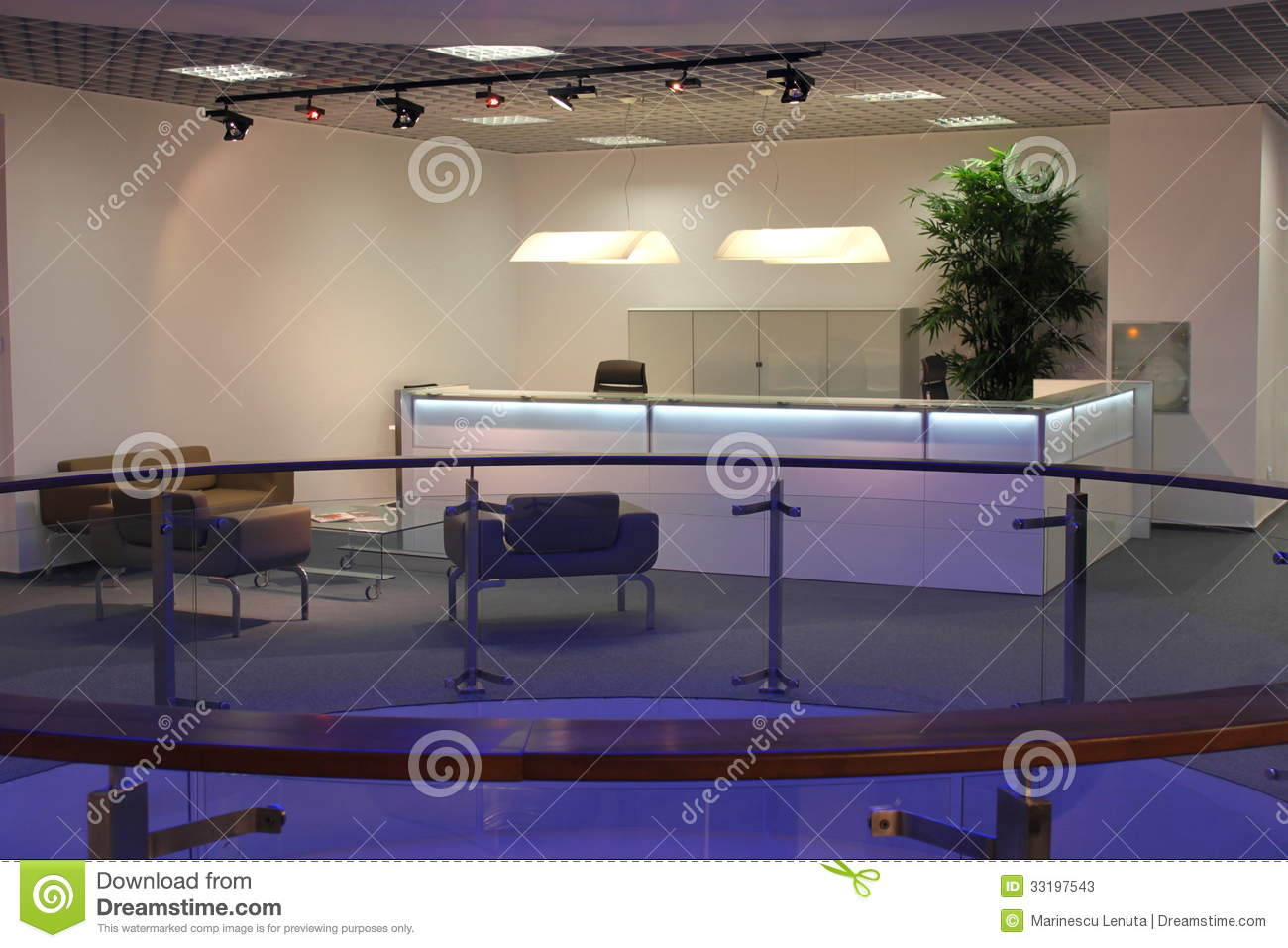Modern office reception stock image image of corridor for Modern office area