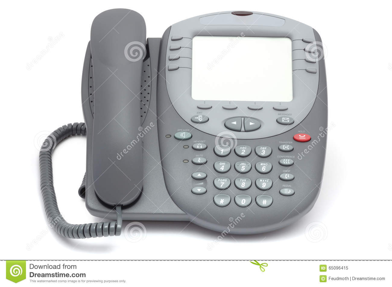 Modern Office System Phone With Large LCD Screen. Isolated ... | 1300 x 954 jpeg 82kB
