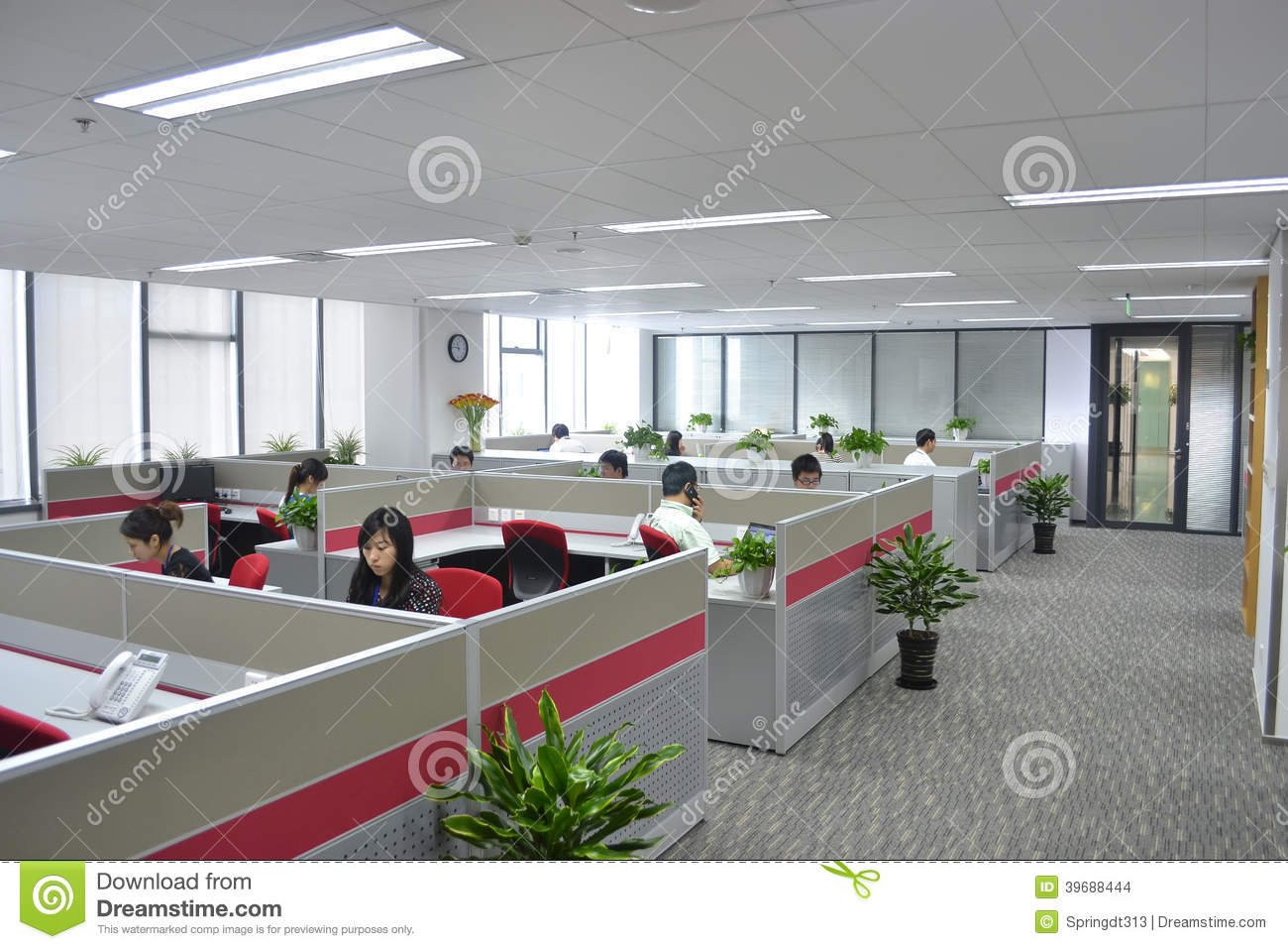 Modern office editorial stock image image of education for Trading group