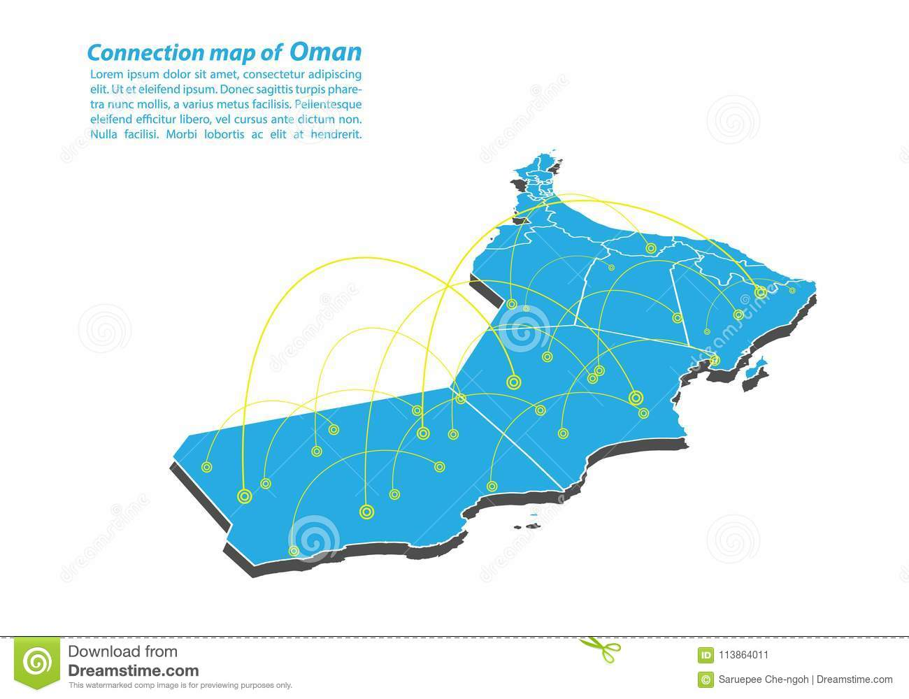 Modern Of Oman Map Connections Network Design, Best Internet Concept