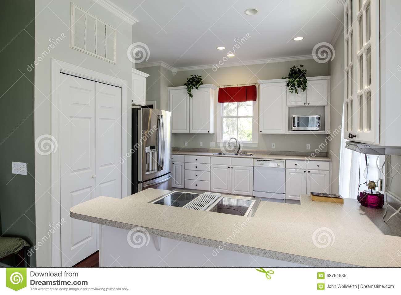 Modern Open Concept Kitchen Stock Photo Image 68794935
