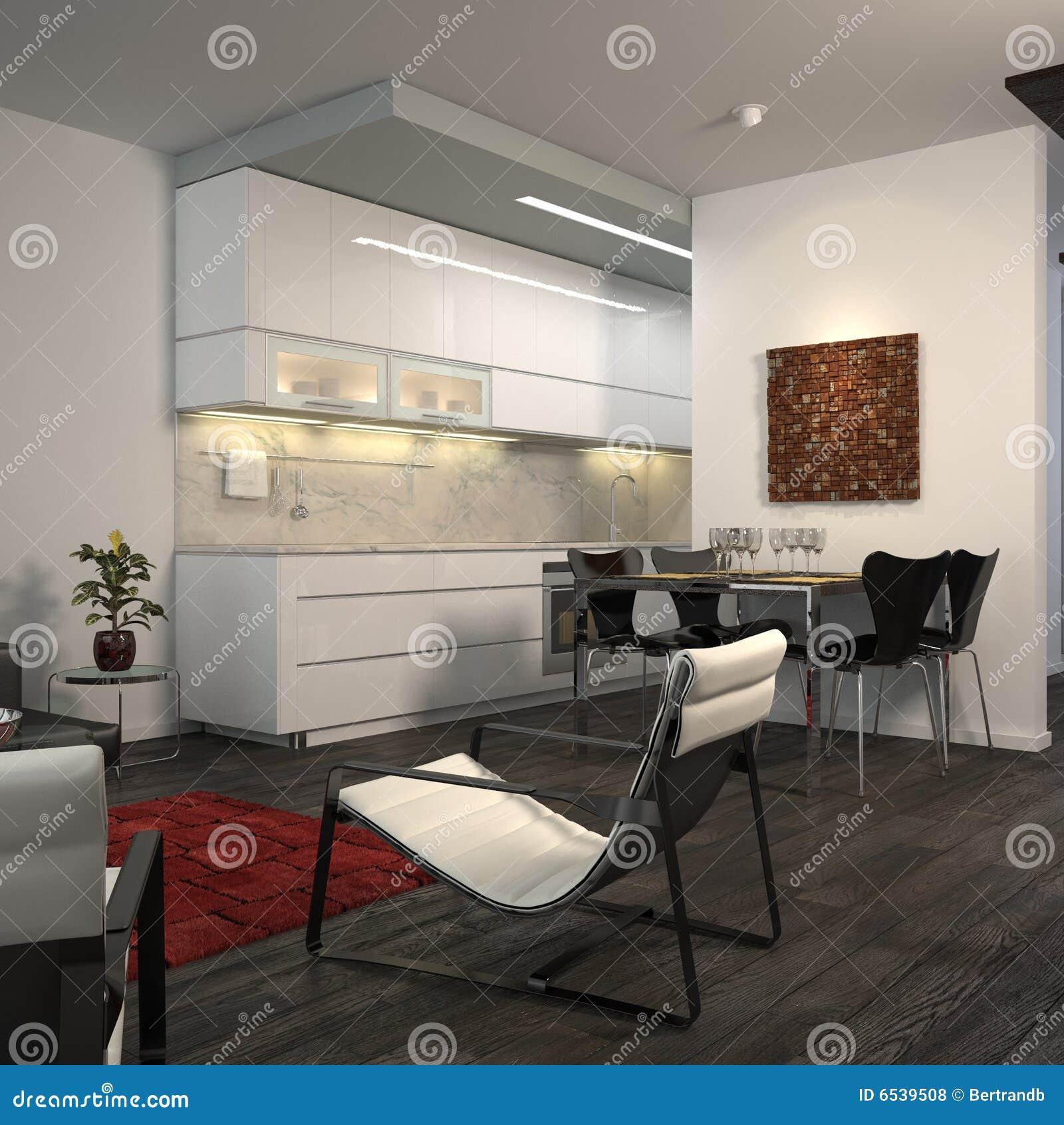 Modern open-plan flat