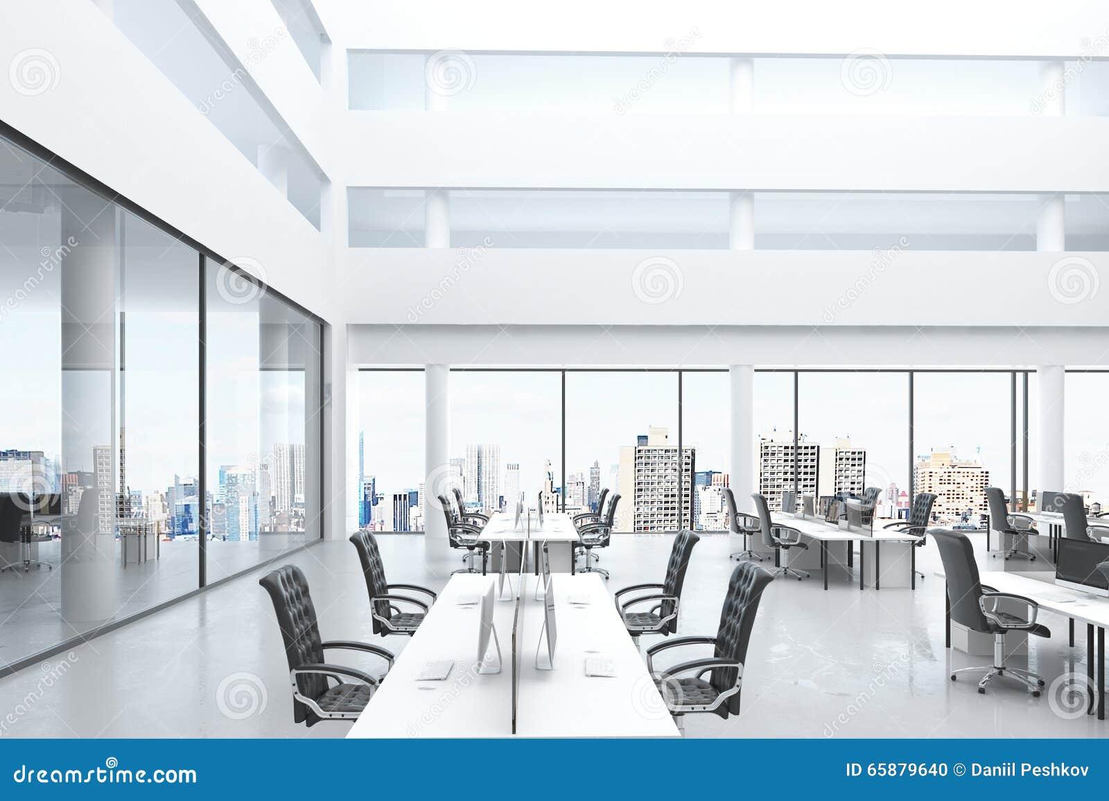 modern open space office with big windows and furniture stock illustration illustration of. Black Bedroom Furniture Sets. Home Design Ideas