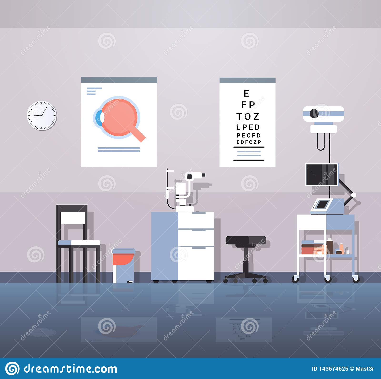 Modern Ophthalmologist Office Interior Design Empty No