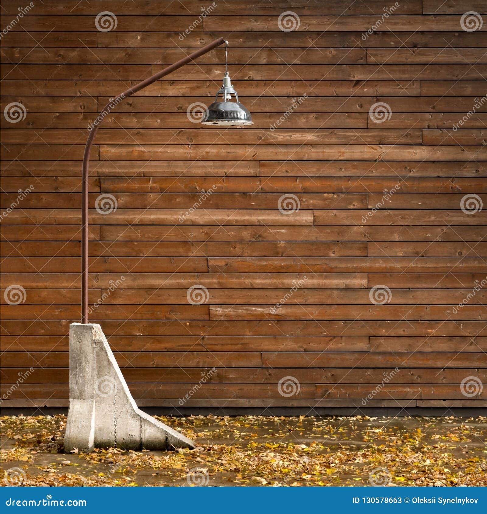 Image of: Modern Outdoor Lighting Concept Warm Lighting Melanholic Stock Image Image Of Grey Floor 130578663