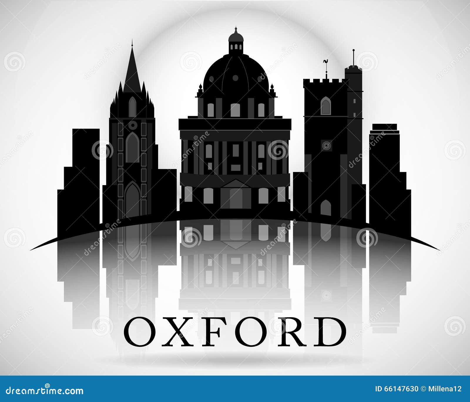 Modern Oxford City Skyline Design. England