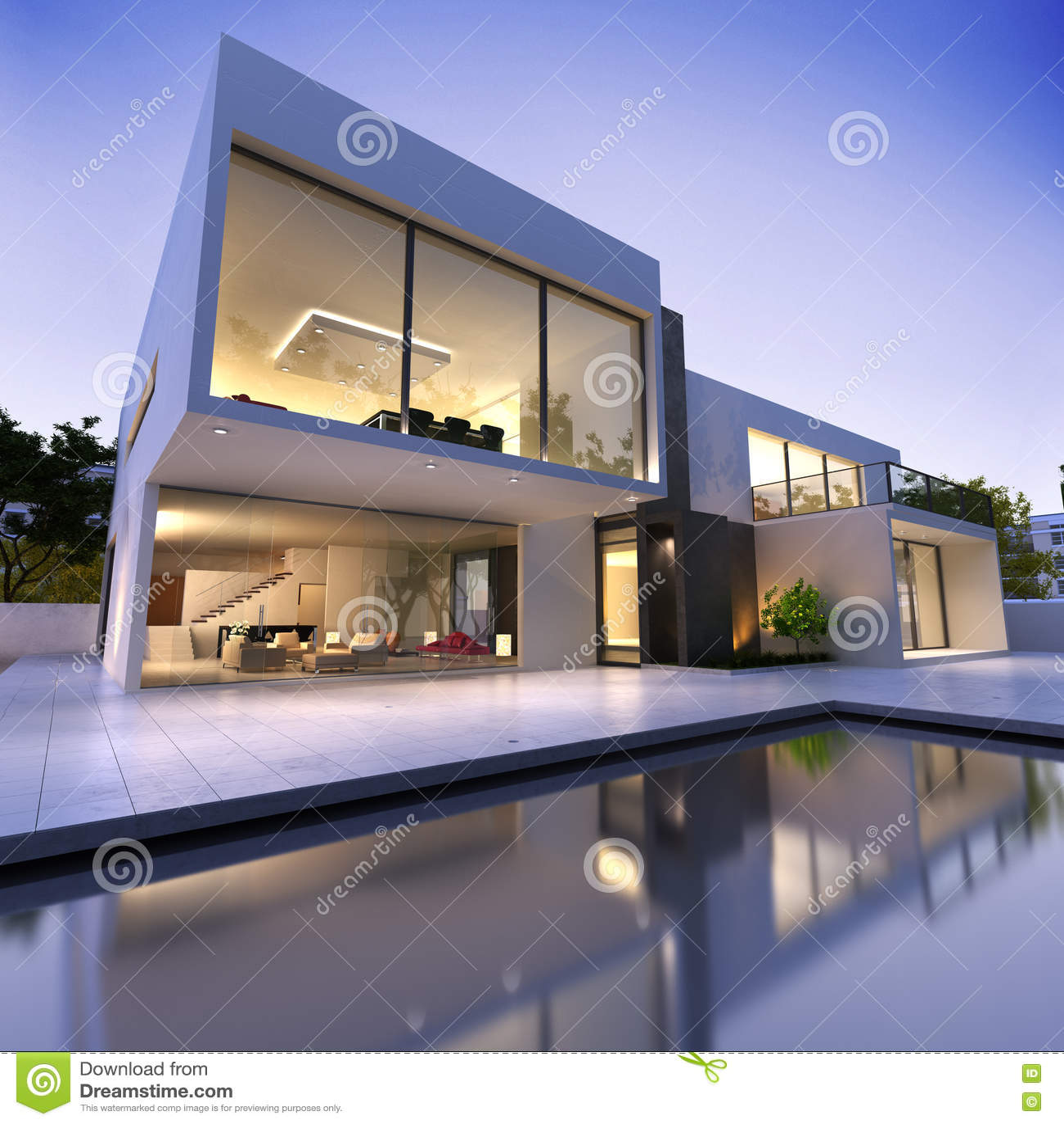 Modern pöl för hus