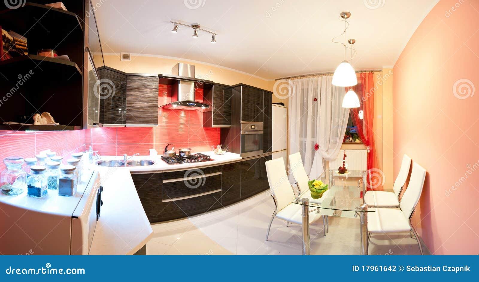 Modern panorama för kök