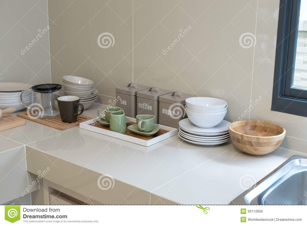 Modern Pantry With Utensils Stock Photo Image 50112656